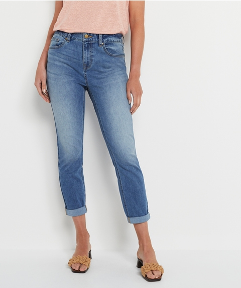 RELAXED MID WASH JEAN