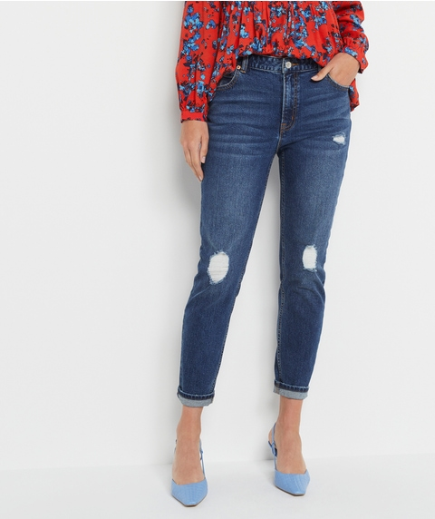 RELAXED DISTRESSED JEAN