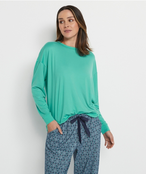 Brushed Sloppy Joe Pyjama Top