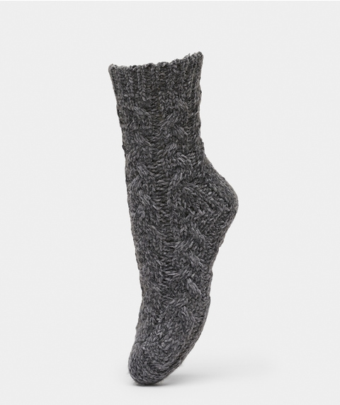CHENILLE CABLE KNIT SOCK