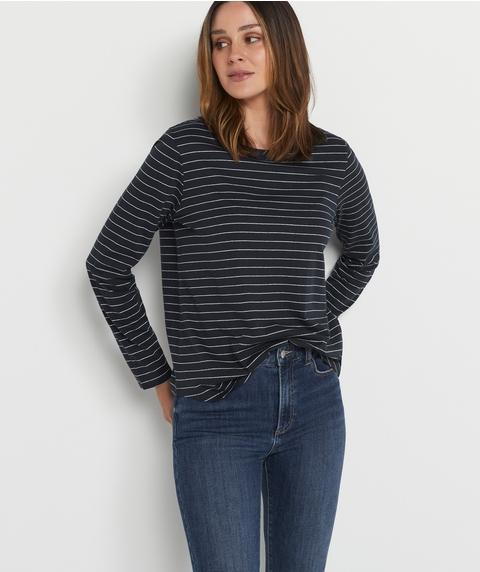 Australian Cotton Stripe Long Sleeve Top