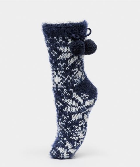 Knitted Pom Pom Sock