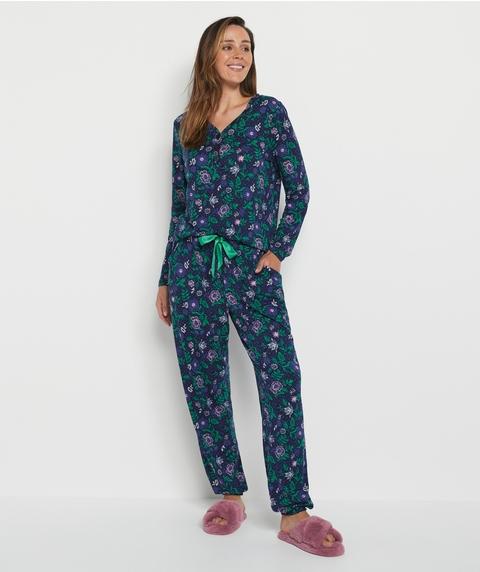Tapestry Floral Print Pyjama Set