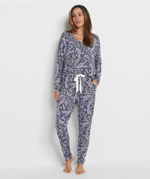 Paisley Print Tie Up Pyjama Set