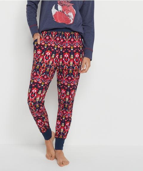 Ikat Print Long John Pyjama Pant