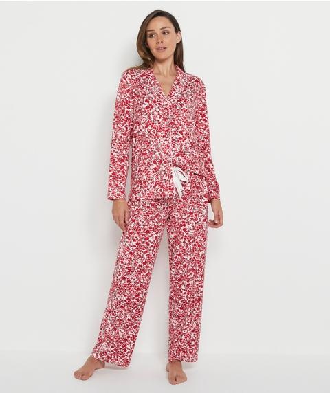 Monotone Ditsy Floral Pyjama Set