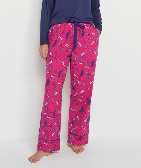 MA FEATHER PRINT W FLANNELETTE PANT