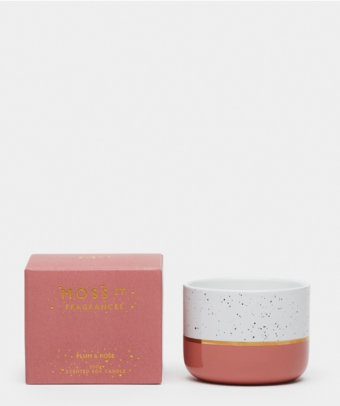 Moss St Large Plum & Rose Candle
