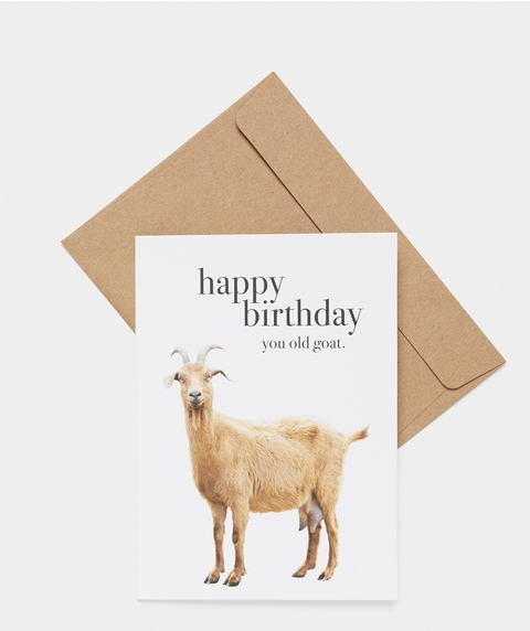 Happy Birthday Goat Card