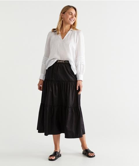 Pleat Linen Shirt