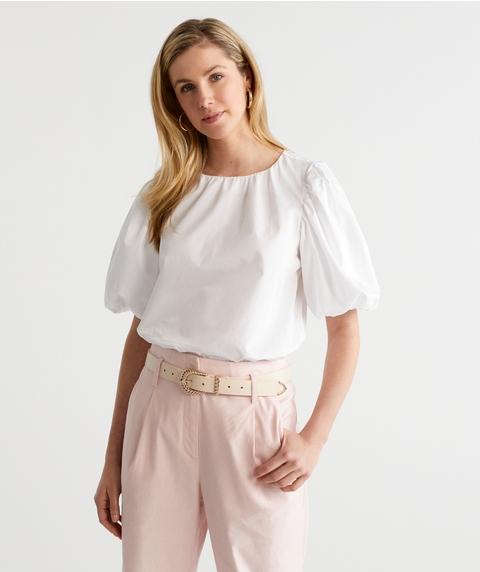 Puff Slv Cotton Top