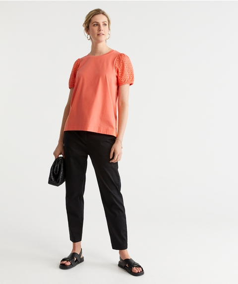 EMBROIDERY SLV TOP