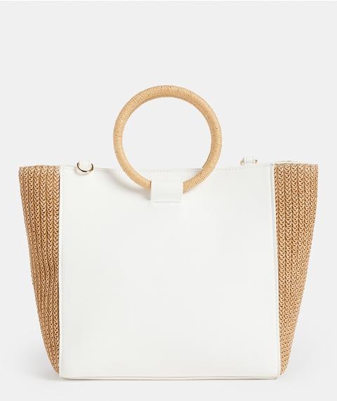 SPLICED RAFFIA BAG
