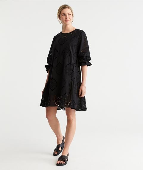 Broderie Soft Hem Dress