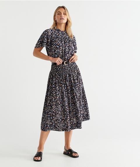 Stencil Print Skirt