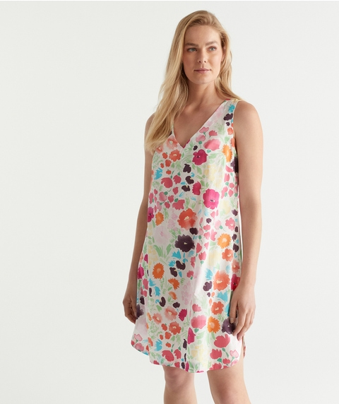 TS WATERCOLOUR FLORAL S/LESS W NIGHT