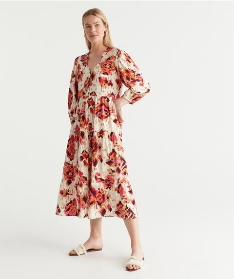 Painted Ikat Dress