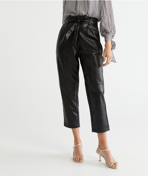 COATED BELTED PANT